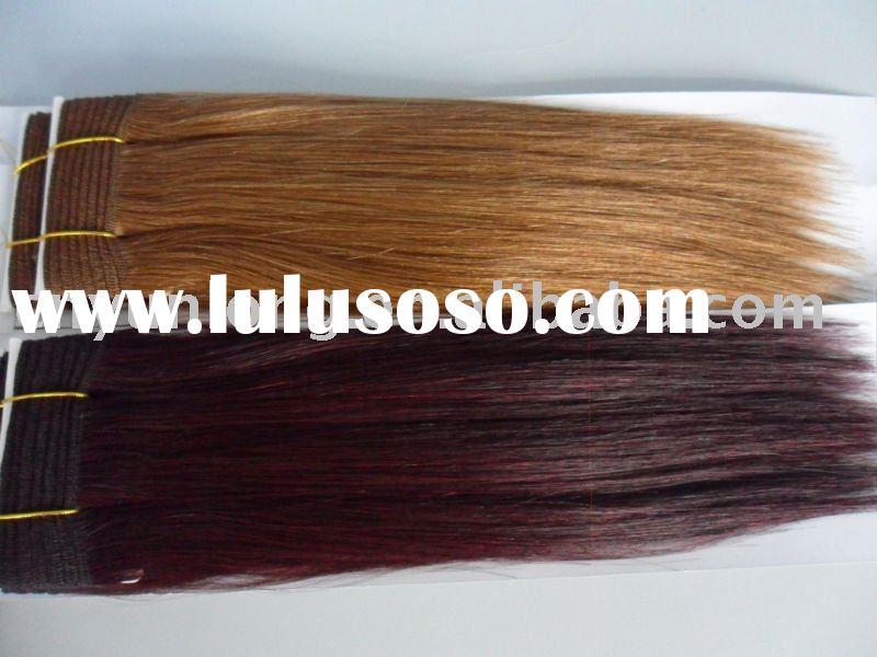 #27 color and 99J 12inch human remy hair extension/weaving/weft