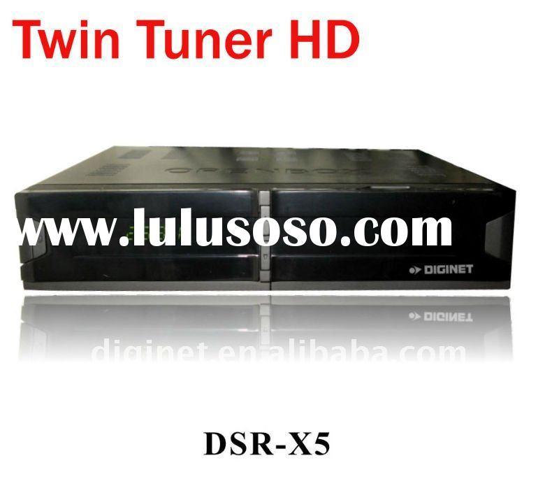 (High Quality and Low Price) Digital Twin Tuner HD Satelite Receiver DVB-S2 Set Top Box with Sharing