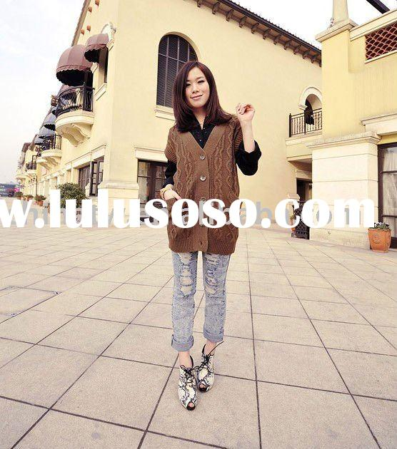 [cl2104] wholesale and retail high quality an cheap American brand short sleeve long sweater, wool c