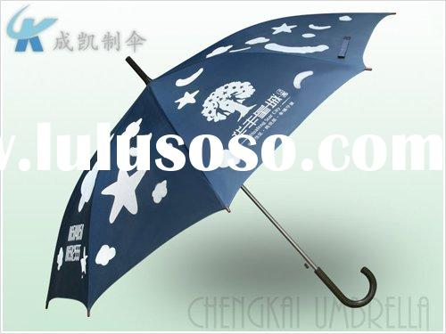 advertising promotional automatic straight colourful umbrella