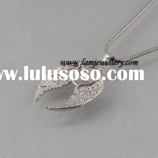 angel wing pendants,fashion jewelry,silver jewelry,