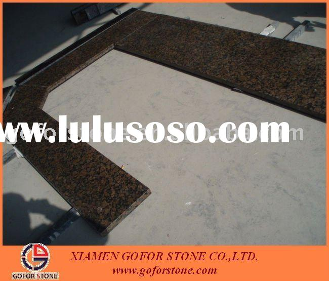 baltic brown bullnose granite countertop