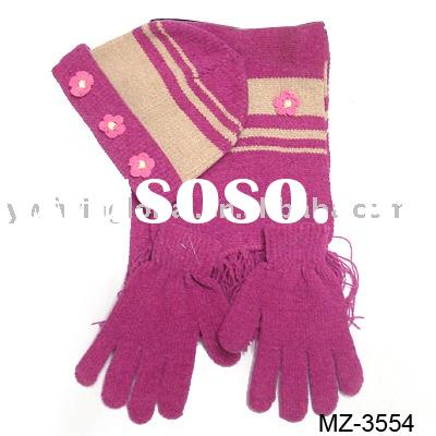 beanie set (with hat and scarf and glove)