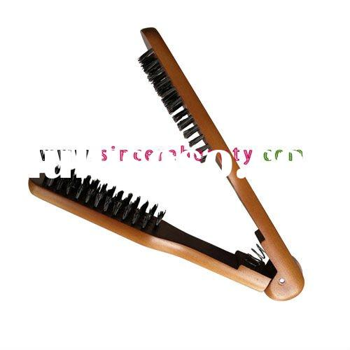 boar bristle hair brush,hair straighten brush,wooden boar bristle brush