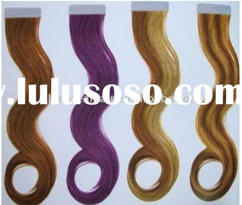 body wave human hair extension pu weft