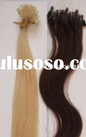 body wave micro ring hair extension/nail-tip human hair/hair products/hair extension