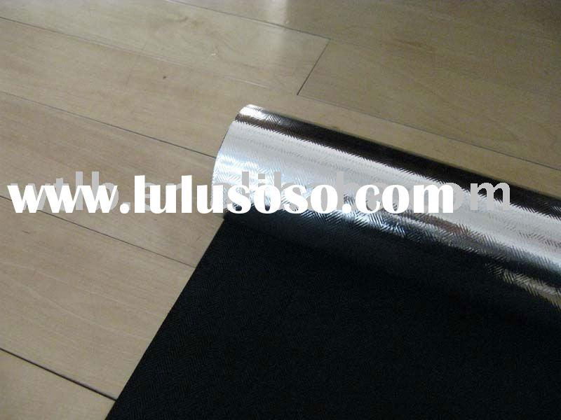 carbon fiberglass fabric coated aluminum foil/reflective insulation
