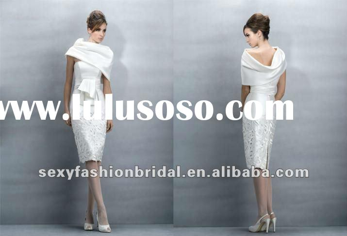 casual style strapless casual dress nice pattern skirt mini wedding dresses with shawl