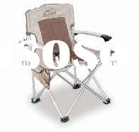 comfortable folding chair with armrest and aluminium frame