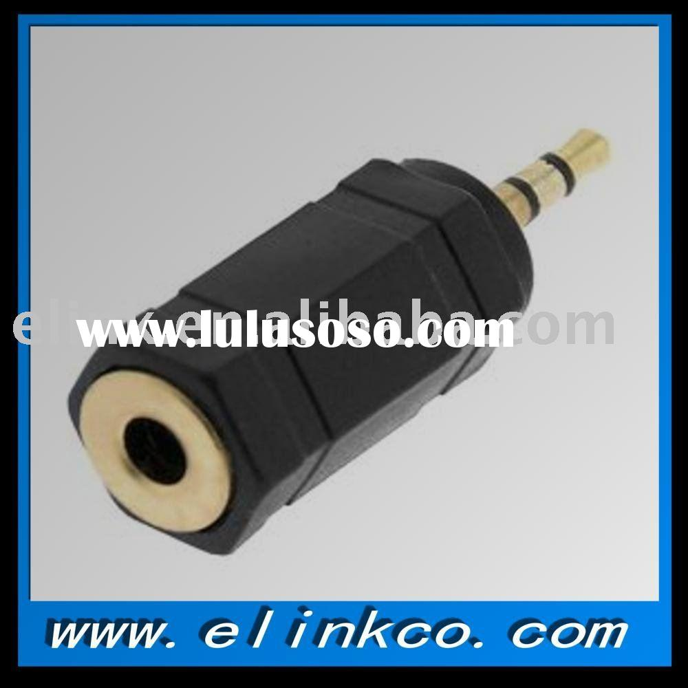 connector, stereo plug, 3.5mm--2.5mm jack
