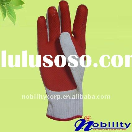 cotton lining nature rubber latex coated working gloves