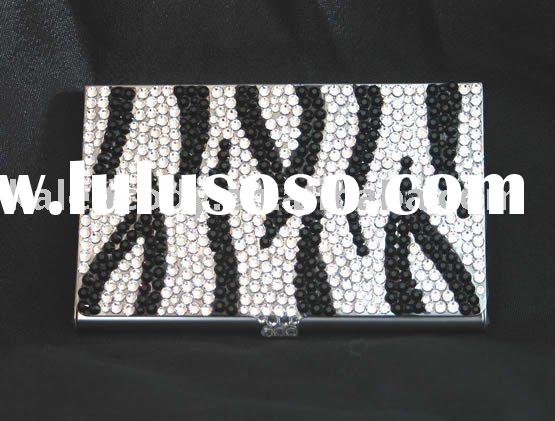 crystal business card holder, Rhinestone Card Holder, Crystal Card Holder
