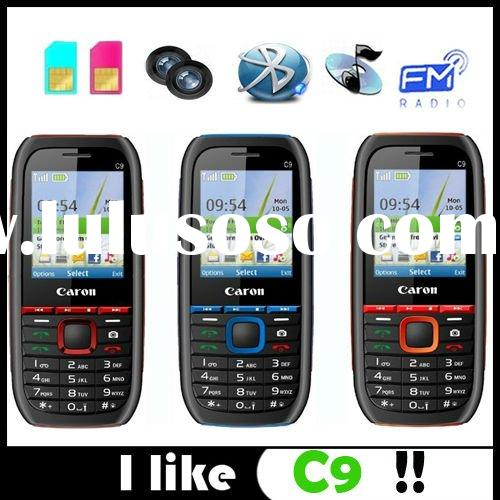 dual sim dual standby mobile phone C9 with dual camera,bluetooth ,loud speaker.Fm.Torch light