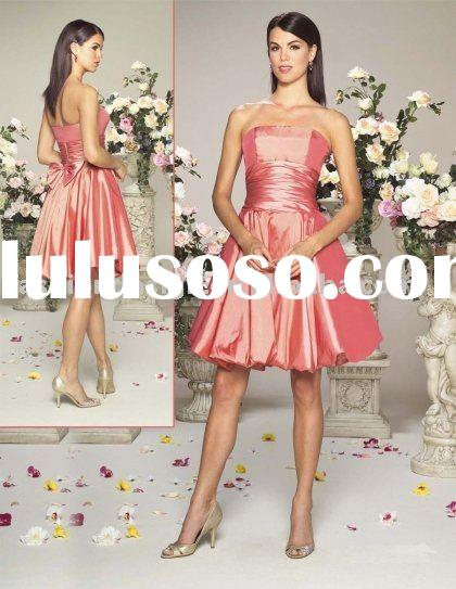 fashion coral short bridesmaid dresses,formal prom gowns,evening dresses BD079