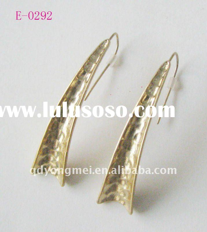 fashion costume jewelry handmade gold alloy earrings 2011 new design