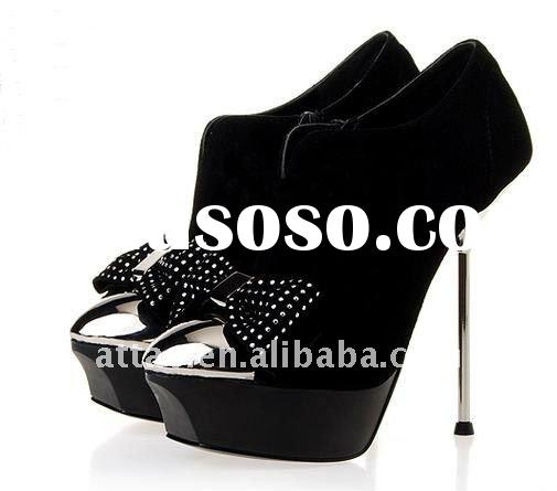 fashion platform high heel shoes with bow