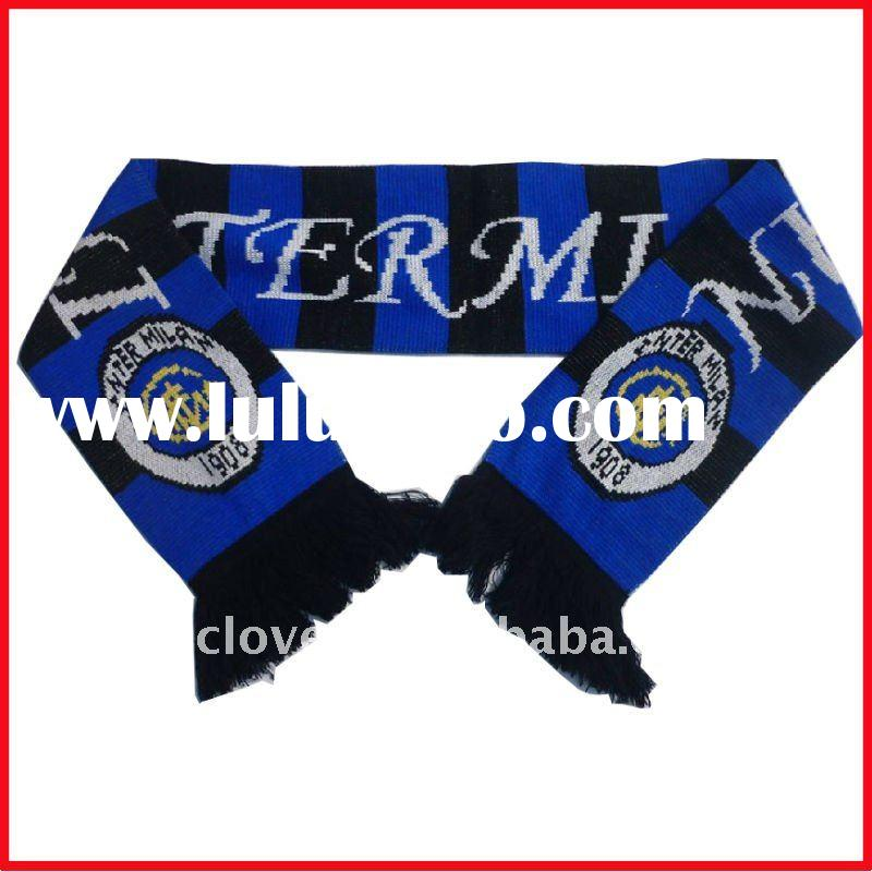 fashion teams knitted football promotional acrylic scarf