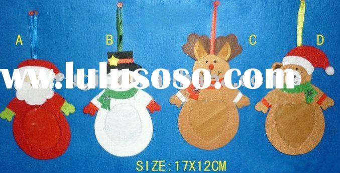 felt christmas Santa Claus, hanging ornament christmas snowman/bear, Xmas Reindeer decoration