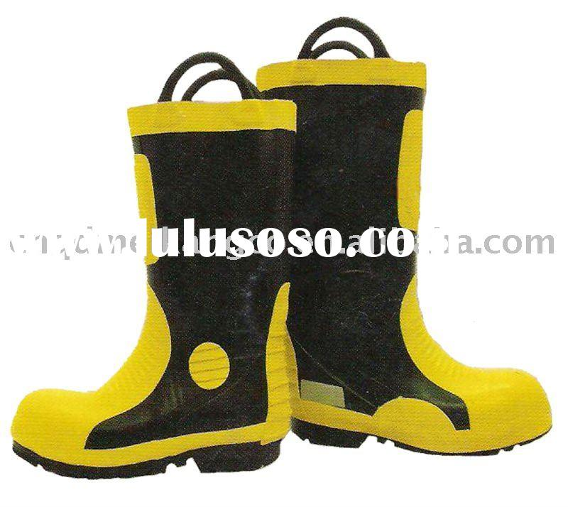 fire fighting boots,rubber boots,yellow rubber boots,leather boots