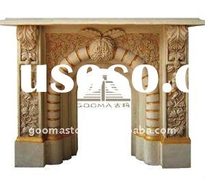 fireplace hearth decorations of resin sand stone