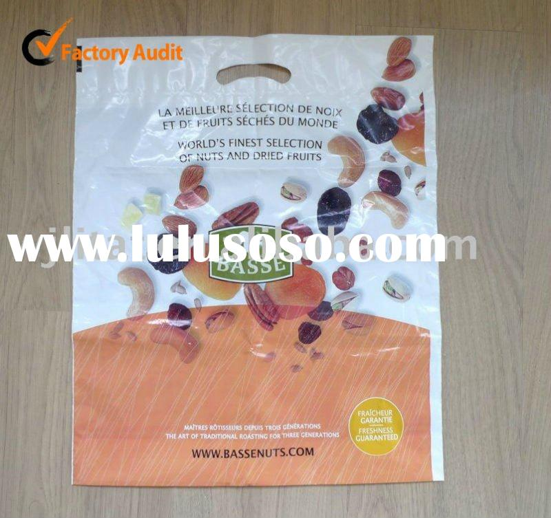 fold over die cut bags ,patch handle bag, reinforced handle bag