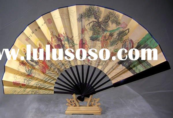 folding fan/spanish fan/gift fan/classical fan/craft paper fan/handmade hand/lady fan