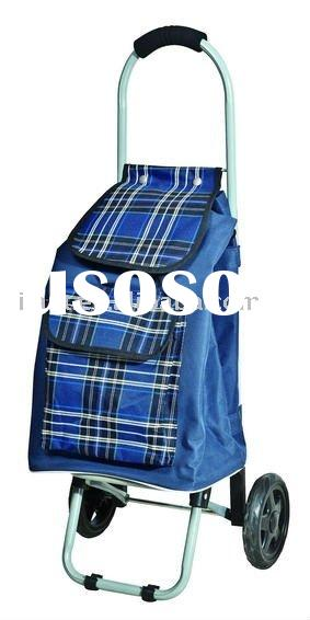 folding luggage shopping trolley bag with four wheel