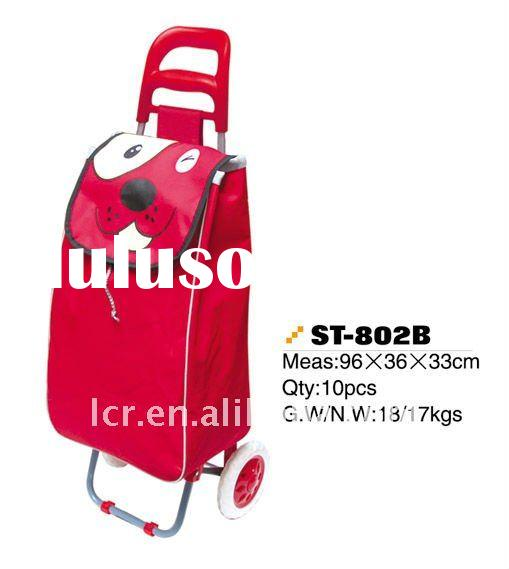 folding of shopping trolley bag with wheel