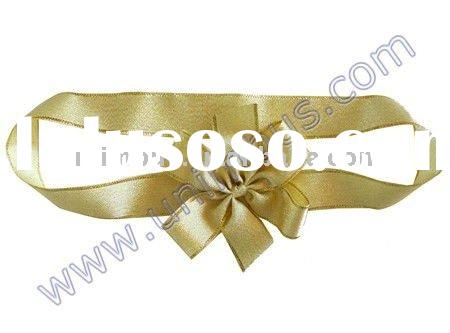 gold metallic ribbon bow for gift packing,christmas decoration