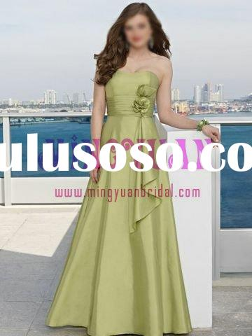 green taffeta bridal dress bridesmaid gowns bd41