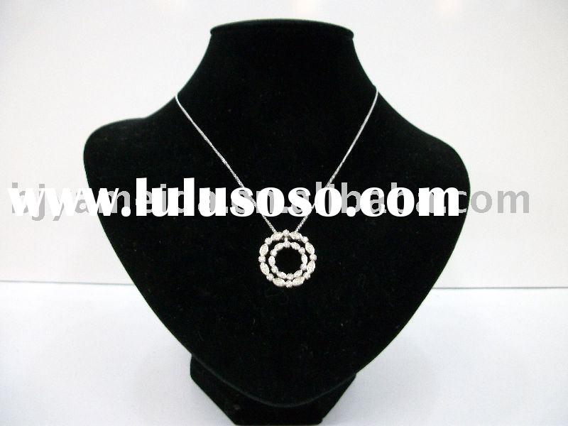 hand made necklace,diamond necklace designs,rhodium plating