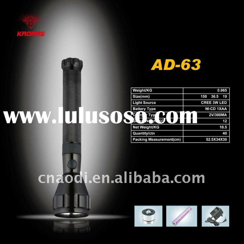 high power led flashlights rechargeable aluminum