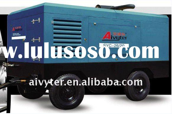 high pressure mobile Belt Drive Air Compressor for power plant