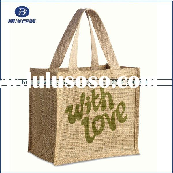 high quality Eco-friendly jute shopping bag