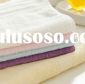 high quality bamboo fiber towel / bamboo face towel