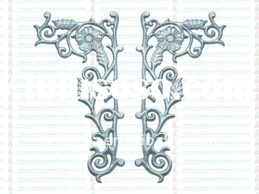 high quality cast aluminum flower style fence decoration