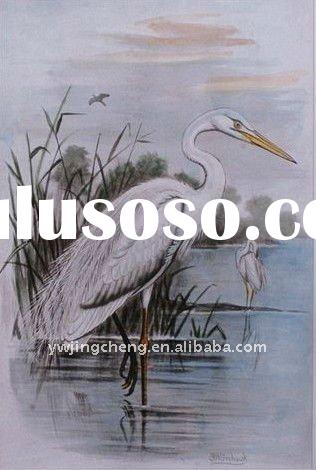 high quality crane painting on canvas