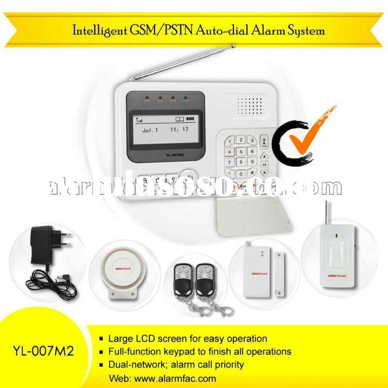 home security alarm companies/GSM wireless home business security...