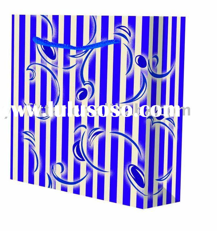 hot sale recyclable art paper flower shopping bags