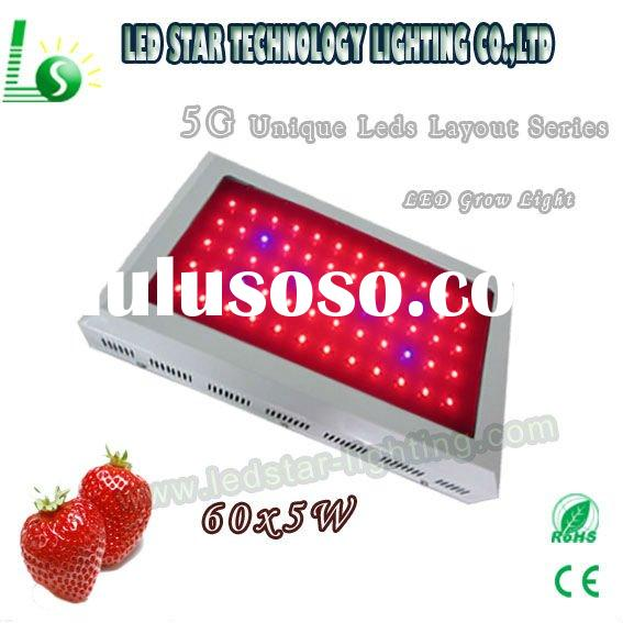 hydroponics/garden greenhouse penetration 300w super power 5w chip led grow light for flower herb/me