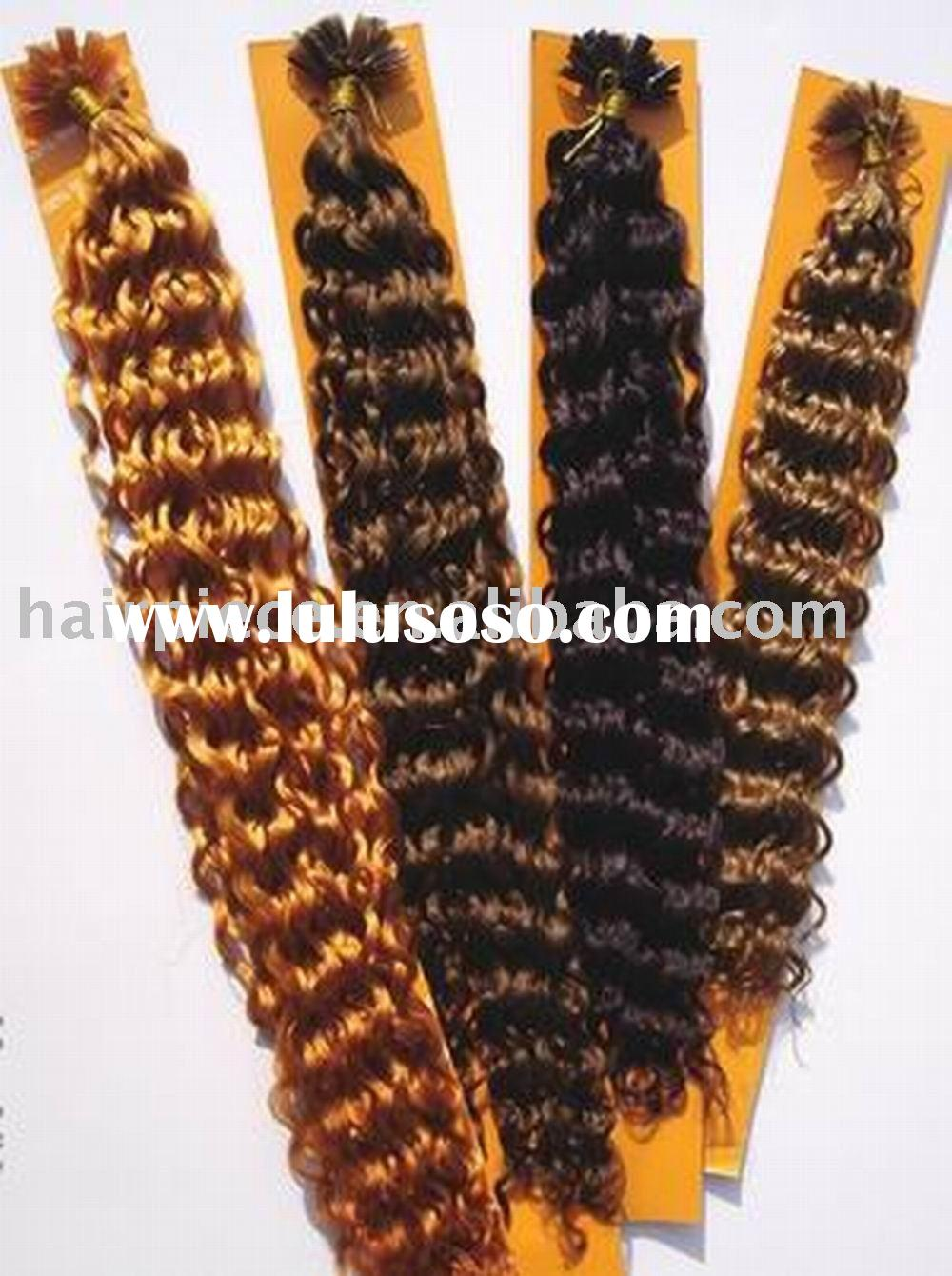keratin nail-tip/u-tip human hair extension/wig/remi hair extension/cheap hair extension