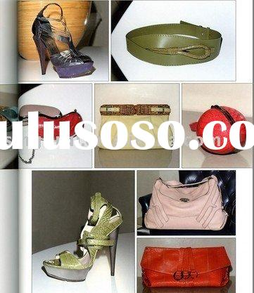 lady shoes and bags leather