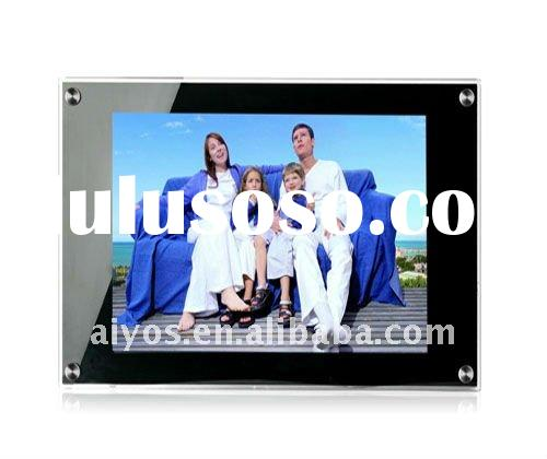 large digital photo frame with battery built in and 4-light-tube high quality screen