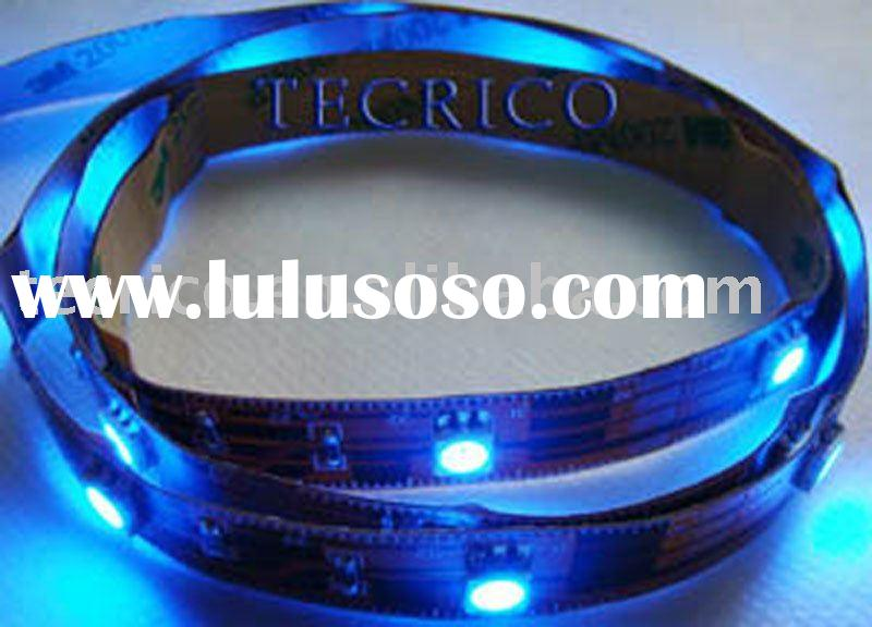 led flexible ribbon,Christmas gift,RGB led strip light,led rope light,12V DC,with 3M adhesive on bac