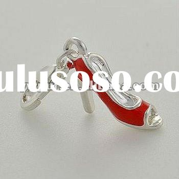 little red high-heel shoes for necklace and pendant