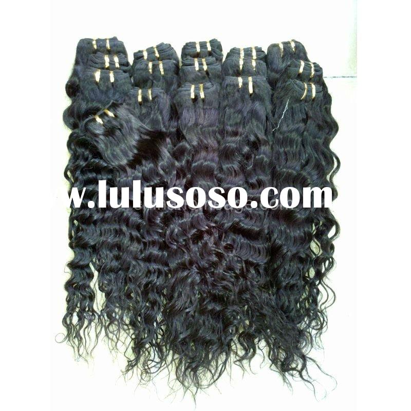machine weft curly hair long-time lasting