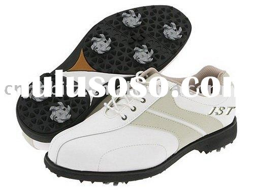 men's and women's fashion leather golf shoes