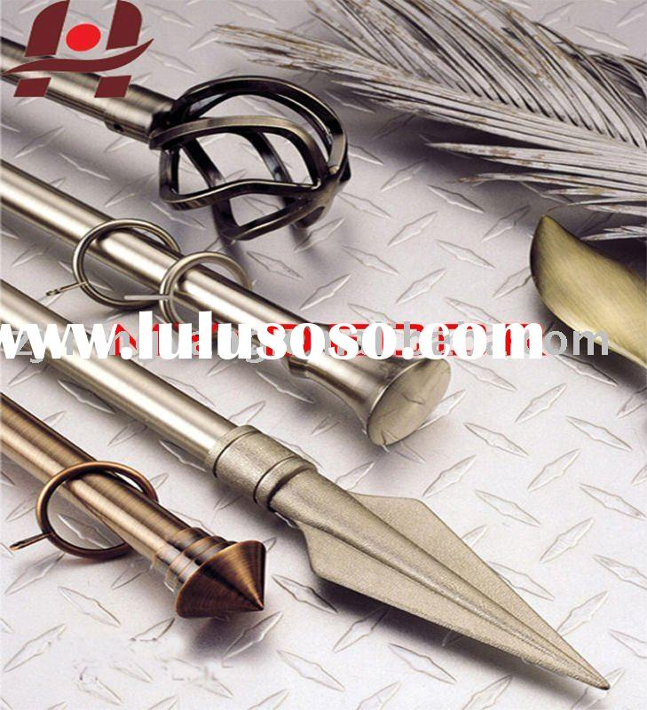 metal iron aluminium stainless steel brass plain square twisted adjustable extensible telescopic win