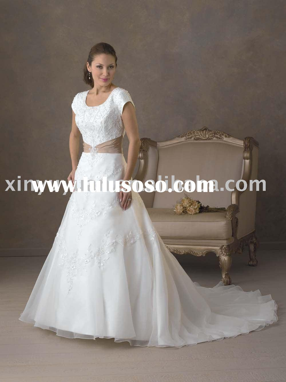 wedding dress lace cap sleeves