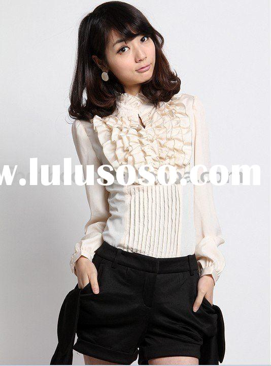 new arrival 2011 OL style women blouse for autumn(895B)